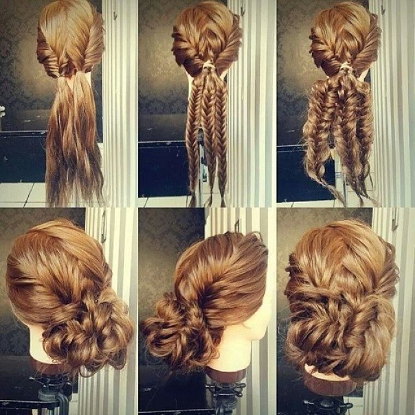Причёска на волосы своими руками пошаговая инструкция фото