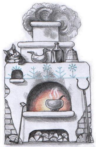 картинки печка как нарисовать фотосессии оборудованы